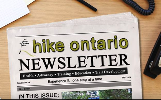 hike ontario newsletter
