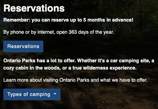 Backpacking & Camping | Ontario Trails Council