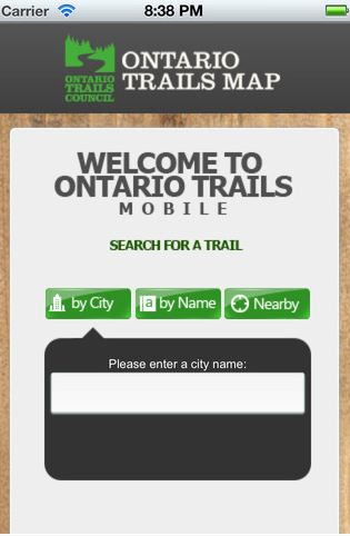 ontario trails mobile app