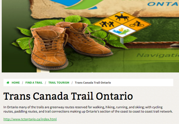 trans canada trail group for ontario trails