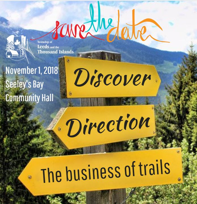 save the date trailhead township of leeds and thousand islands