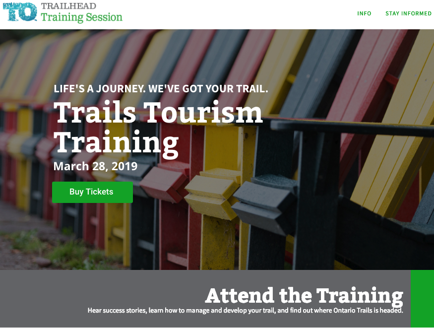 trail tourism training